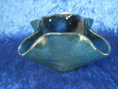 schaal transparant blauw/groen patroon