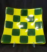 Schaal-lemon-groen-en-donker-groen