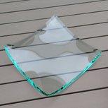 Glazen schaal blanco met facetrand