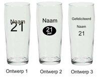 Bierfluitje met naam en leeftijd