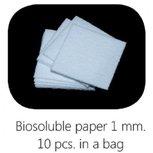 Biosoluble fibre paper 1mm 75x75 mm