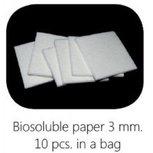 Biosoluble fibre paper 3mm 75x75 mm