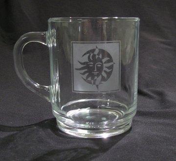 Theeglas met eigen logo