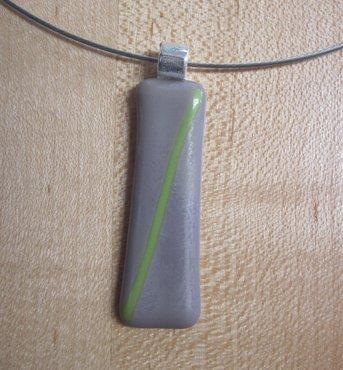 Hanger lila en groen glas