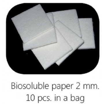 Biosoluble fibre paper 2mm 48x48mm