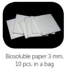 Biosoluble fibre paper 3mm 75x75 mm