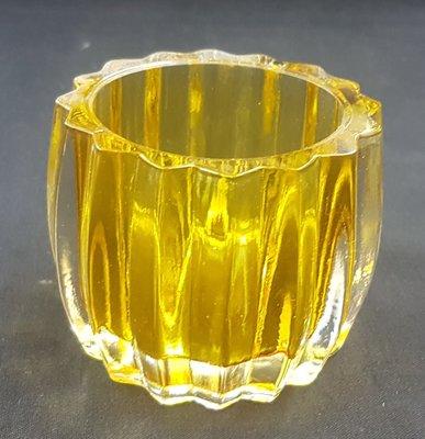 Waxinelicht houder Geel