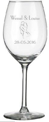 Wijnglas incl. lasergravering