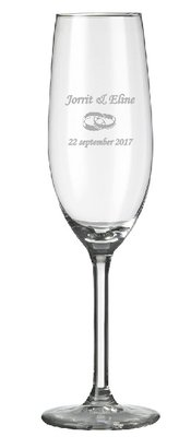 Champagneglas incl. lasergravering