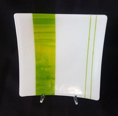 Schaal wit met groen