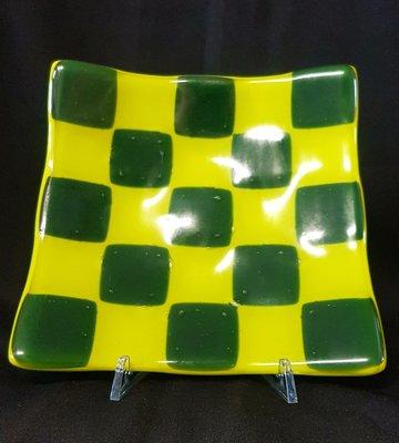 Schaal lemon groen en donker groen