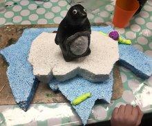 Hobby- Knutselpakket kinderen Wintertijd pinguïn